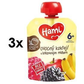 Hami ovocná kapsička Ovocný koktejl s kokosovým mlékem 90g x 3ks