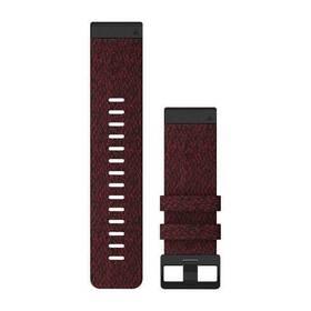 Garmin QuickFit 26mm pro Fenix5X/6X, nylonový, červený, černá přezka (010-12864-06)