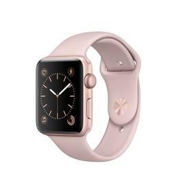 Apple Watch Series 2 42mm pouzdro z růžově zlatého hliníku – pískově růžový sportovní řemínek (MQ142CN/A) + Doprava zdarma