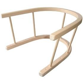 Acra na sáně dřevěná béžová