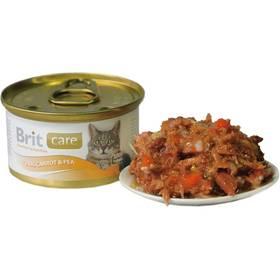 Brit Care Cat tuňák, mrkev & hrášek 80g