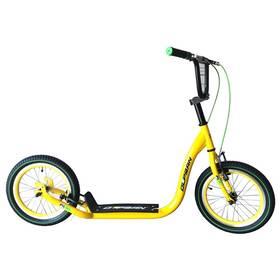 """Olpran 16"""" A1 žlutá/fosforová + Reflexní sada 2 SportTeam (pásek, přívěsek, samolepky) - zelené v hodnotě 58 Kč + Doprava zdarma"""