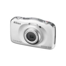 Digitálny fotoaparát Nikon Coolpix S33 + dětský batoh ZDARMA biely