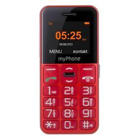 myPhone HALO EASY (TELMY10EASYRE) červený SIM s kreditem T-mobile Twist V síti 200 Kč kredit (zdarma)