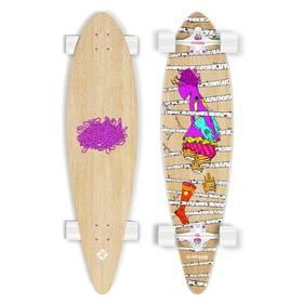 """Street Surfing Pintal 40"""" Woods - artist series + Reflexní sada 2 SportTeam (pásek, přívěsek, samolepky) - zelené v hodnotě 58 Kč + Doprava zdarma"""