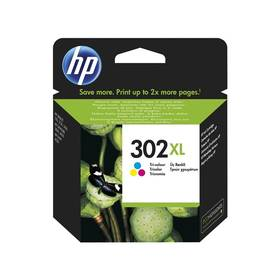 HP 302XL, 330 stran - 3 barevná kazeta (F6U67AE)