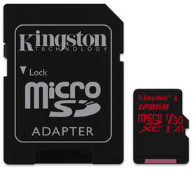 Kingston Canvas React microSDXC 128GB UHS-I U3 (100R/80W) + adaptér (SDCR/128GB)
