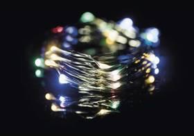EMOS 75 LED, 7,5m, řetěz zelený (miniaturní), vícebarevná, časovač, i venkovní použití (1534191900)