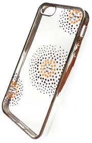 Kryt na mobil Beeyo Flower Dots pro Apple iPhone 5/5s/SE (BEAAPIP5TPUFLSI) strieborný
