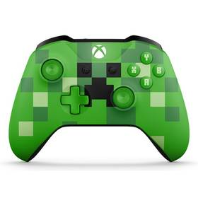 Microsoft Xbox One S Wireless - Minecraft Creeper (WL3-00057) + Doprava zdarma