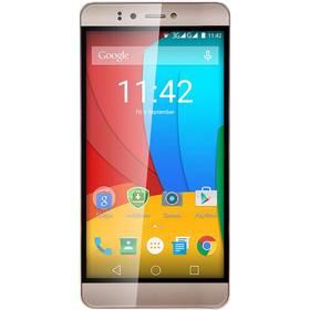 Prestigio Muze A7 Dual SIM (PSP7530DUOGOLD) zlatý + Software F-Secure SAFE 6 měsíců pro 3 zařízení v hodnotě 999 Kč jako dárek+ Voucher na skin Skinzone pro Mobil CZ v hodnotě 399 Kč jako dárek + Doprava zdarma