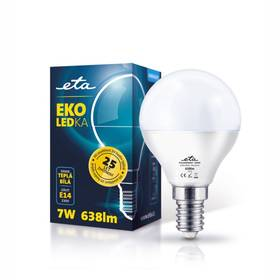 ETA EKO LEDka mini globe, 7W, E14, teplá bílá (G45-PR-638-16A) bílá