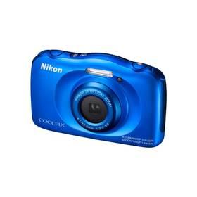 Digitálny fotoaparát Nikon Coolpix S33 + dětský batoh ZDARMA modrý