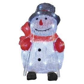 EMOS vánoční sněhulák, 28cm, venkovní, studená bílá, časovač (1534234900)