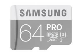 Samsung Micro SDXC PRO 64GB UHS-I U3 (90R/80W) + adapter (MB-MG64EA/EU)
