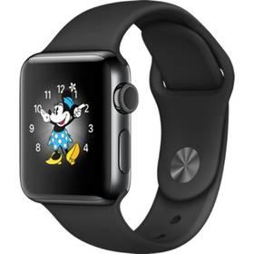 Apple Watch Series 2 38mm pouzdro z vesmírně černé nerezové oceli – černý sportovní řemínek (MP492CN/A) + Doprava zdarma