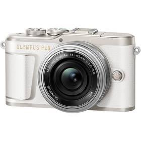 Olympus PEN E-PL9 + 14-42 EZ Pancake stříbrný/bílý Brašna na foto/video Lowepro Format 110 (zdarma) + Doprava zdarma