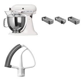 Set KitchenAid - kuchyňský robot 5KSM150PSEWH + KPRA strojek na těstoviny + Doprava zdarma
