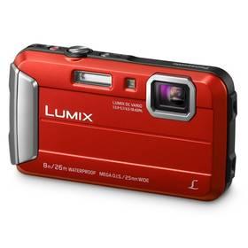 Panasonic Lumix DMC-FT30EP-R červený + Doprava zdarma