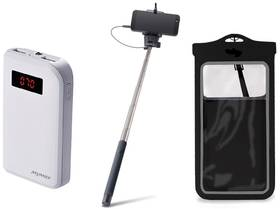 Remax Letní set - 10000 mAh, vodotěsné pouzdro, selfie tyč
