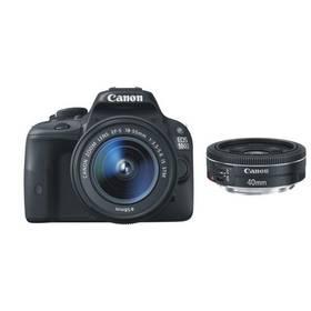 Canon EOS 100D + 18-55 IS STM + 40mm STM (8576B054) černý + Doprava zdarma