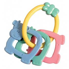 Hrkálka Canpol babies kravičky na kroužku modré/žlté/zelené/ružové