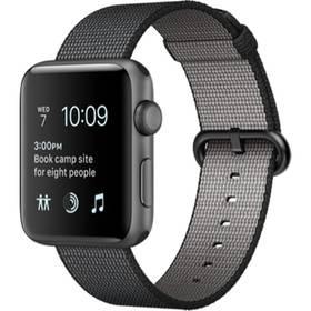 Apple Watch Series 2 42mm pouzdro z vesmírně šedého hliníku – černý řemínek z tkaného nylonu (MP072CN/A) + Doprava zdarma