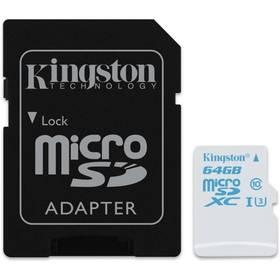 Kingston MicroSDXC 64GB UHS-I U3 (90R/45W) + adapter (SDCAC/64GB)
