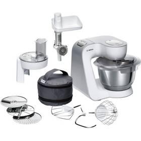 Bosch CreationLine MUM58224 stříbrný/bílý + K nákupu poukaz v hodnotě 1 000 Kč na další nákup + Doprava zdarma