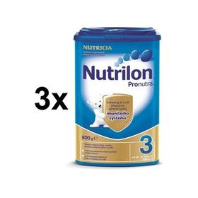 Nutrilon 3 Pronutra, 800g x 3ks + DÁREK