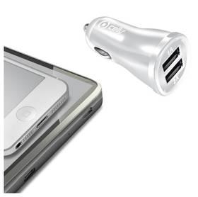 Celly 2x USB, 2,1A (CCUSB22W) bílý