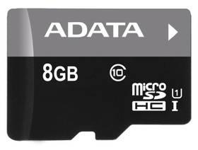 ADATA 8GB Class 10 UHS-U1 (50R/10W) + čtečka MicroReader Ver.3 (AUSDH8GUICL10-RM3BKBL) černá