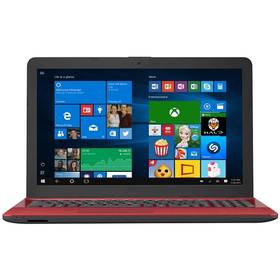 Asus X541NA 15.6/N4200/1TB/4G/W10, červený červený
