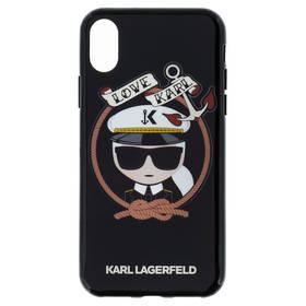 Karl Lagerfeld Karl Sailor Case pro iPhone X (KLHCPXKSB) černý