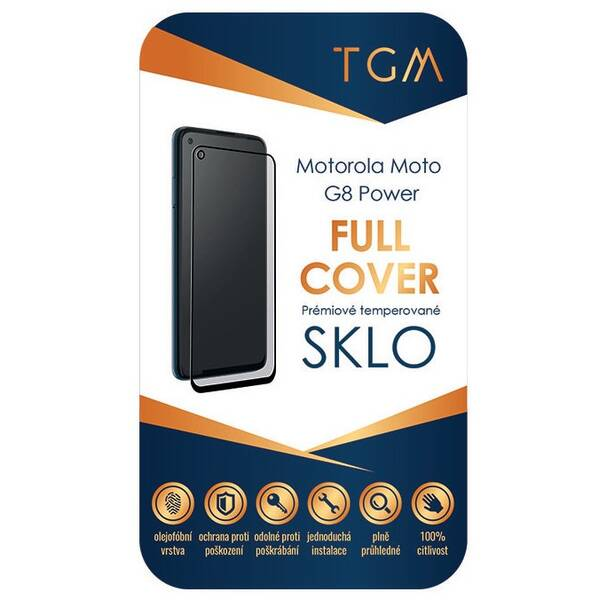 Tvrdené sklo TGM Full Cover na Motorola Moto G8 Power (TGMFCMOTMOG8POW) čierne