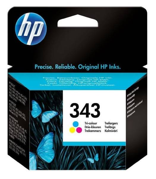 Inkoustová náplň HP No. 343, 7ml, 260 stran - originální (C8766EE) červená/modrá/žlutá