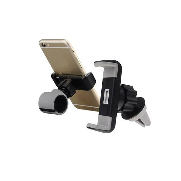 Držák na mobil GoGEN MCH640, univerzální, 2v1 (MCH640) černé/šedé