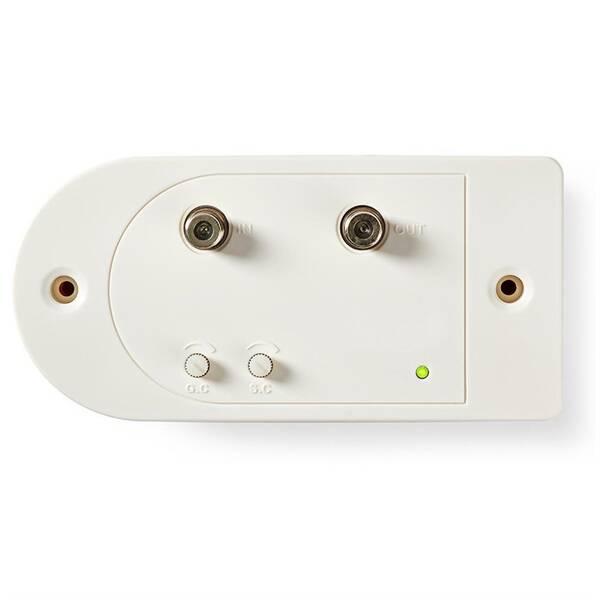 Zesilovač Nedis CATV, Max. zesílení 28 dB, 86–1 006 MHz, 1 Výstup, Zpětný Kanál, Konektor F (SAMP41112WT)