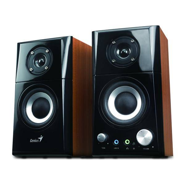 Reproduktory Genius SP-HF 500A 2.0 (31730905100) černé/imitace dřeva