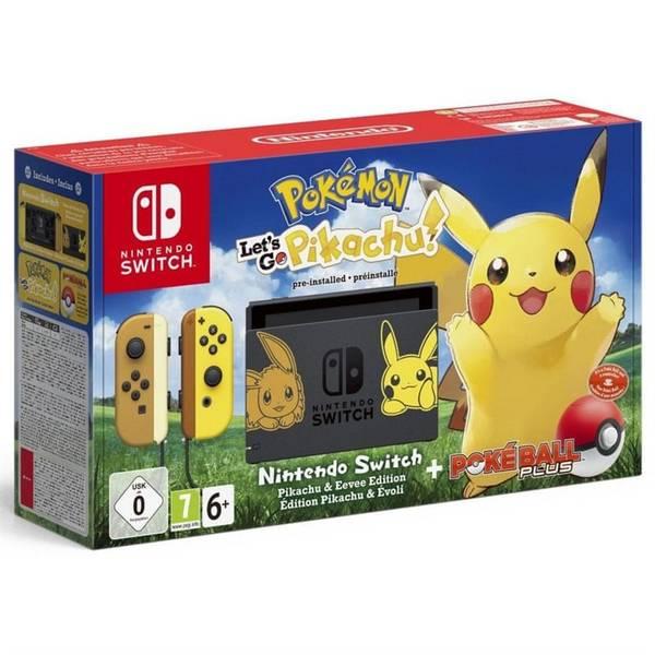 Herní konzole Nintendo SWITCH Pokémon: Let's Go Pikachu + Pokéball (NSH045)