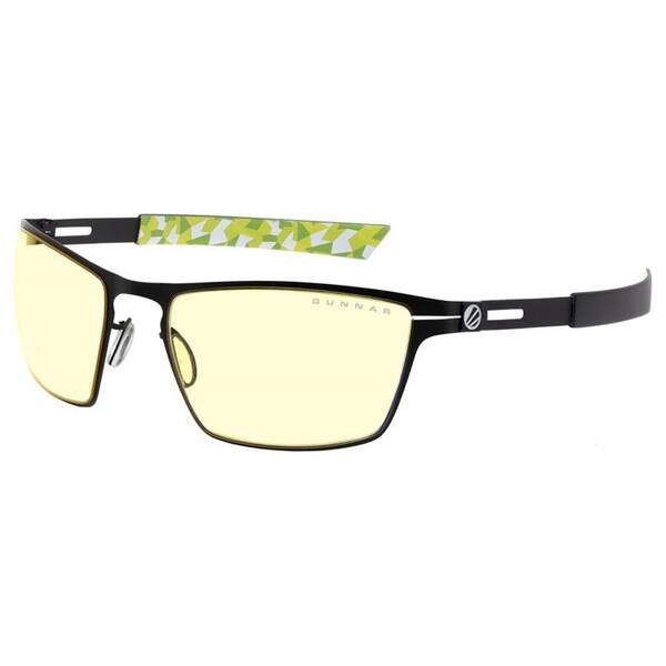 Herné okuliare GUNNAR ESL BladebOnyx, jantarová skla odolná proti mastnotě , pouzdro (ESL-30001) čierne