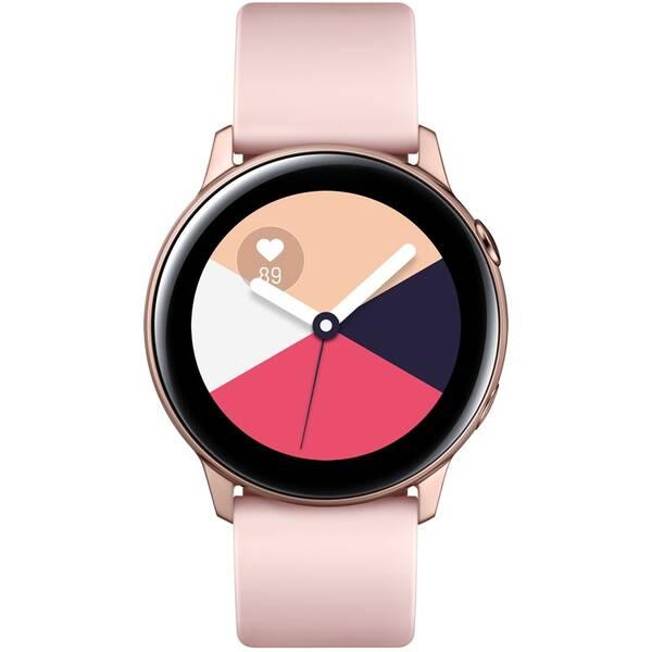 Chytré hodinky Samsung Galaxy Watch Active (SM-R500NZDAXEZ) růžová/zlatá
