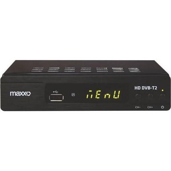 Set-top box Maxxo T2 HEVC/H.265 + wifi adaptér černý