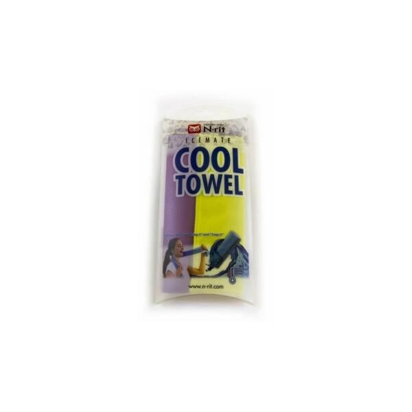 Cool Towel Twin 100 x 20 cm, fialová/žlutá