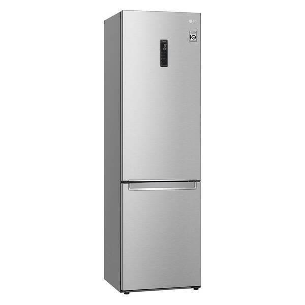 Kombinácia chladničky s mrazničkou LG GBB72NSUCN strieborná