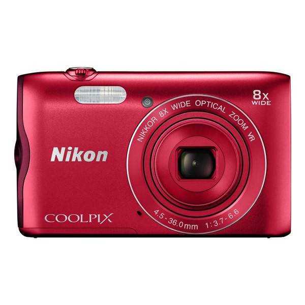 Digitální fotoaparát Nikon Coolpix A300 červený (vrácené zboží 8800288169)
