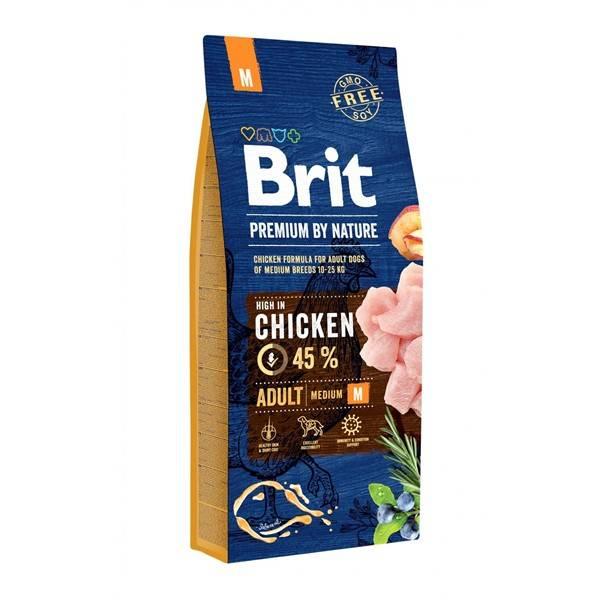 Granule Brit Premium Dog by Nature Adult M 15 kg