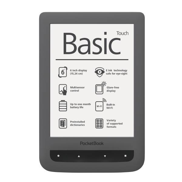 Čtečka e-knih Pocket Book 624 Basic Touch (PB624-Y-WW) šedá