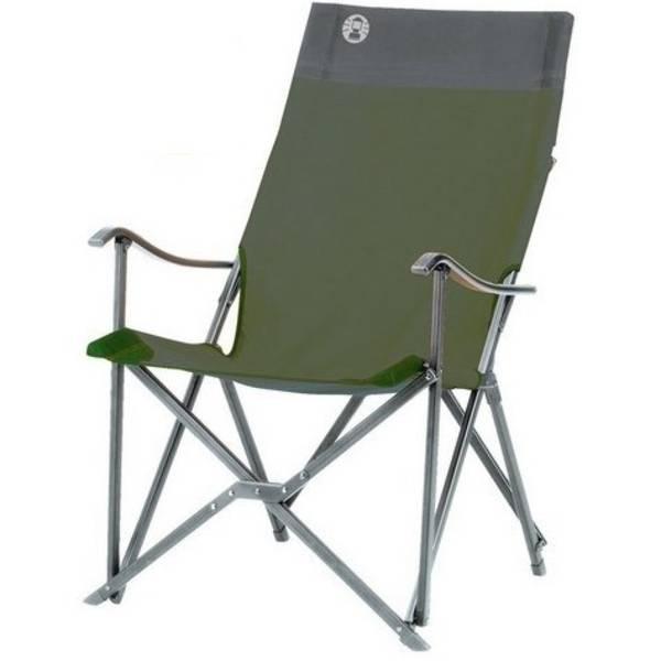 Židle Coleman SLING CHAIR -  hliníkový rám černá/zelená