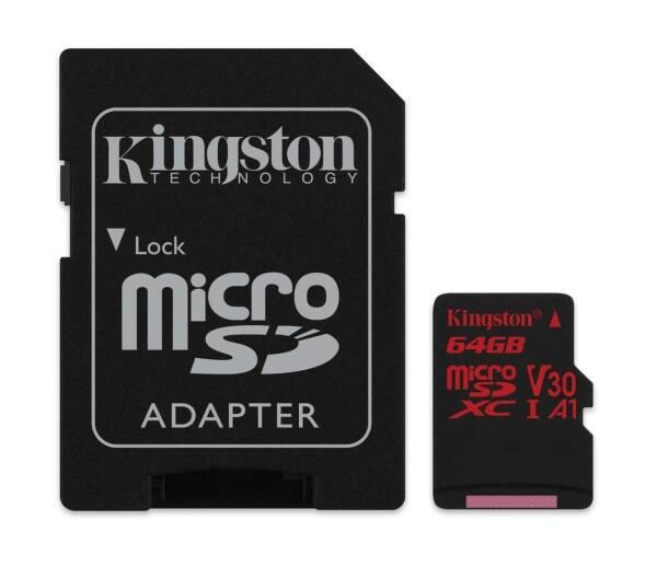 Paměťová karta Kingston Canvas React microSDXC 64GB UHS-I U3 (100R/80W) + adaptér (SDCR/64GB) (vrácené zboží 8800539825)